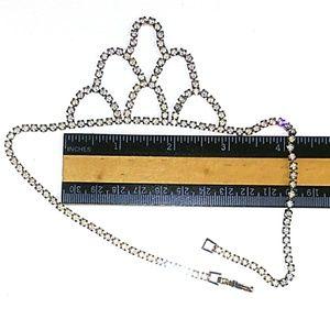 Vintage Jewelry - VINTAGE Rhinestone Festoon Choker Necklace